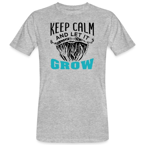 Beard Keep Calm And Let It Grow - Männer Bio-T-Shirt