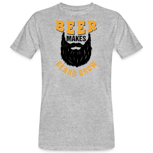 Beer Makes Beard Grow Funny Gift - Männer Bio-T-Shirt