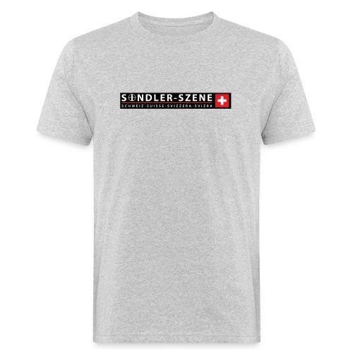 Logo schwarz - Männer Bio-T-Shirt