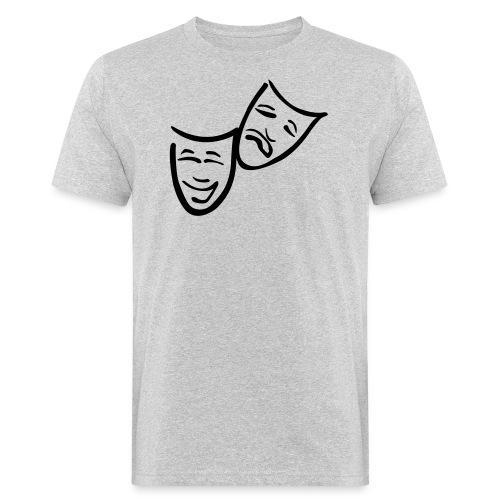 Theatermasken - Männer Bio-T-Shirt