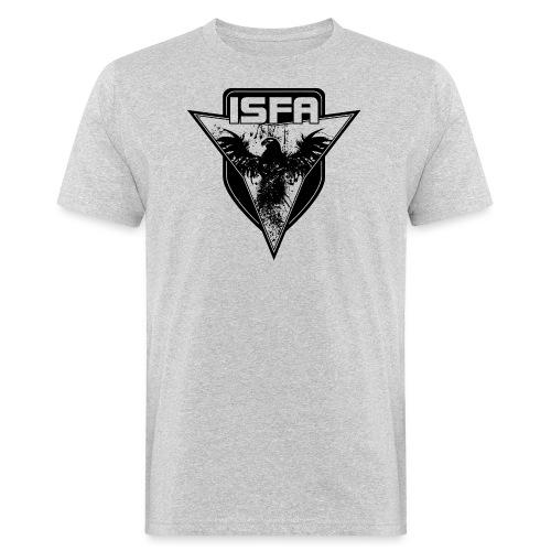 isfa logo 1c schwarz - Männer Bio-T-Shirt