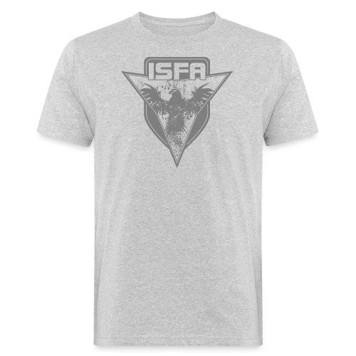 isfa logo 1c grau - Männer Bio-T-Shirt