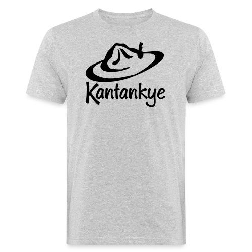 logo hoed naam - Mannen Bio-T-shirt