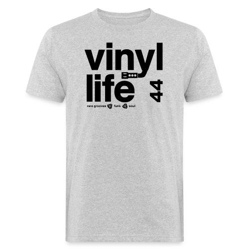 vinyl life v2b - Männer Bio-T-Shirt