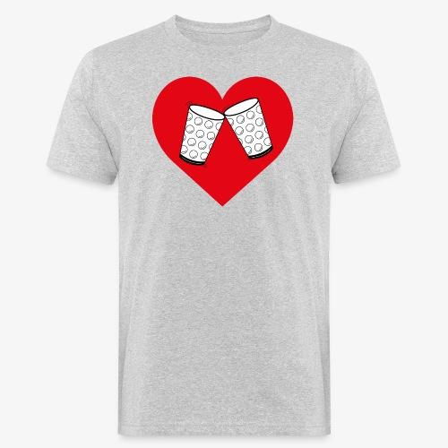 Schorle Liebe – Dubbegläser - Männer Bio-T-Shirt