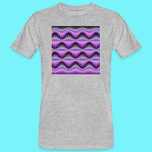 Sine waves in red and blue - Men's Organic T-Shirt