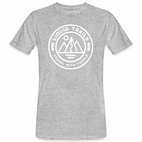 Liquid Trails Logo weiss - Männer Bio-T-Shirt