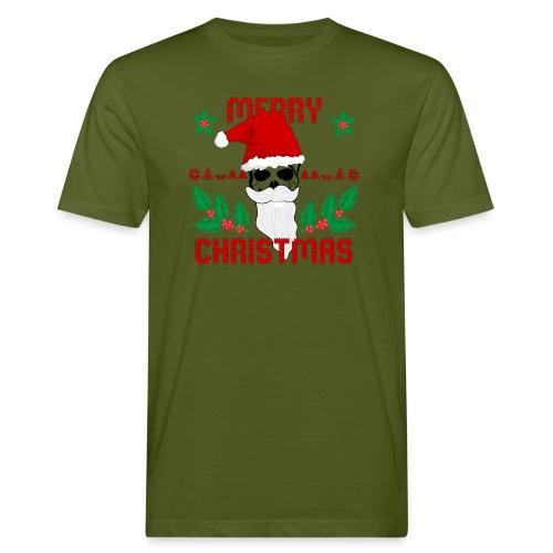 Merry Christmas Skull - Männer Bio-T-Shirt