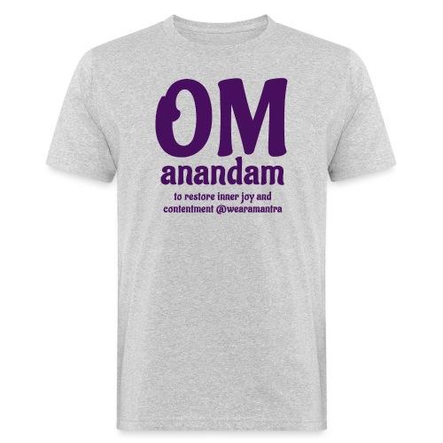 TS Om Anandam purple - T-shirt ecologica da uomo
