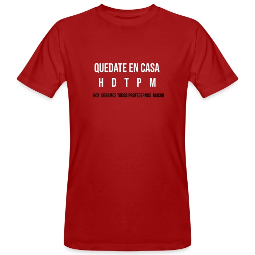 #QUÉDATE EN CASA - Camiseta ecológica hombre