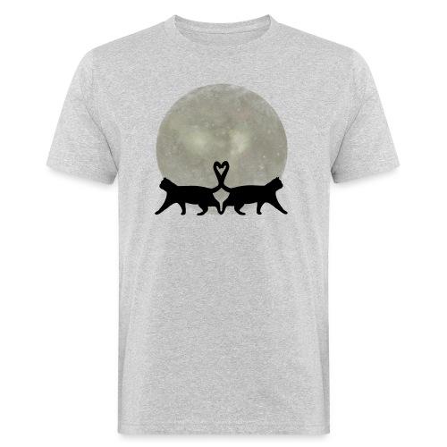 Cats in the moonlight - Mannen Bio-T-shirt