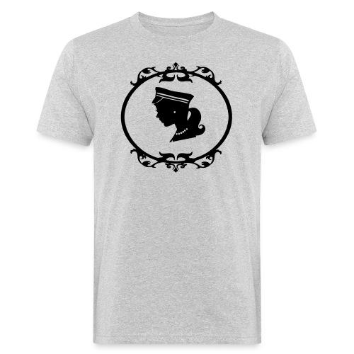 Mädel oval 1 farbig - Männer Bio-T-Shirt