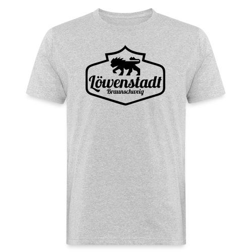 Löwenstadt Design 1 schwarz - Männer Bio-T-Shirt