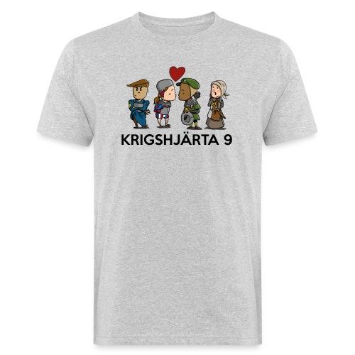 Deltagartröja svart text - Ekologisk T-shirt herr