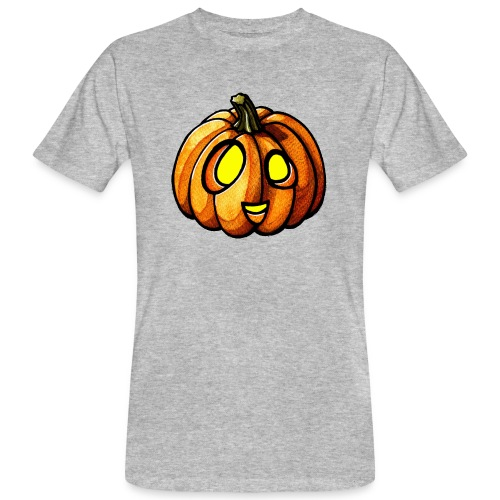 Pumpkin Halloween watercolor scribblesirii - Männer Bio-T-Shirt