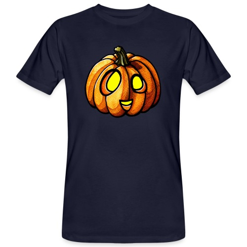 Pumpkin Halloween watercolor scribblesirii - Organic mænd