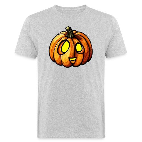 Pumpkin Halloween watercolor scribblesirii - Männer Bio-T-Shirt
