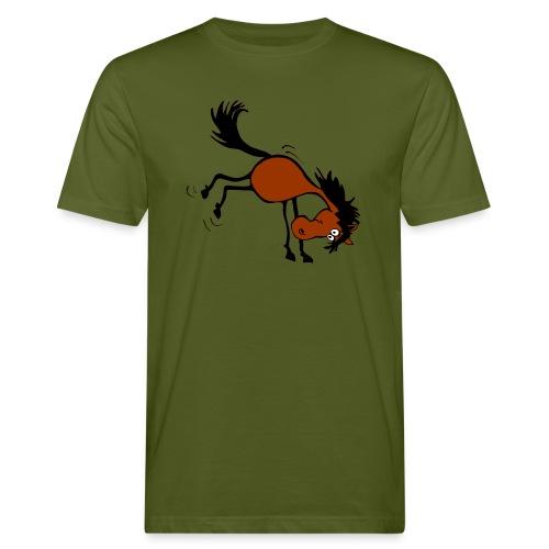 buckelndes Pferd - Männer Bio-T-Shirt