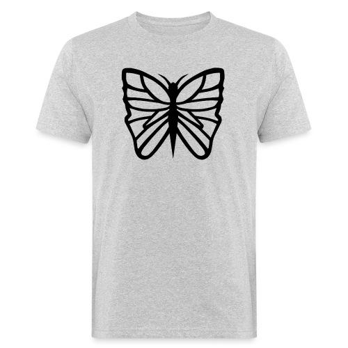 Avancerat fjärilsmotiv. - Ekologisk T-shirt herr