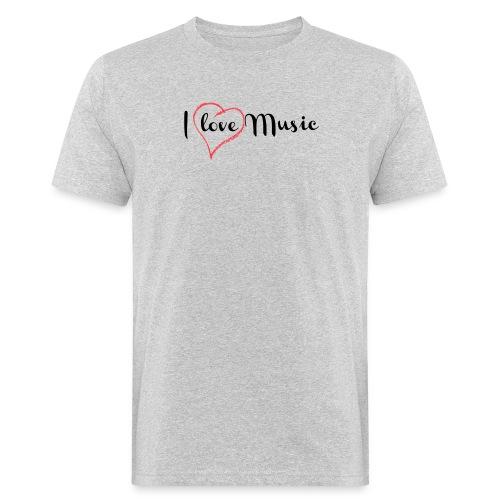 I Love Music - T-shirt ecologica da uomo
