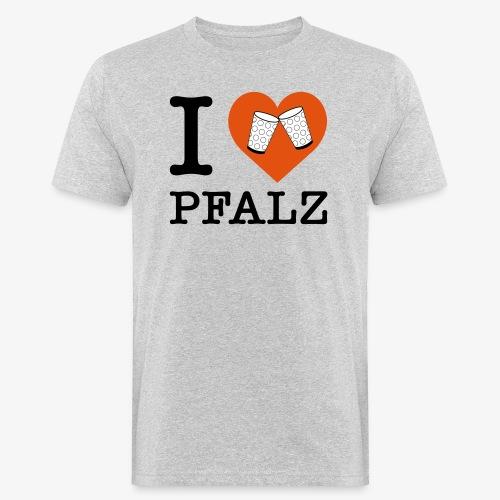 I love Pfalz – Dubbeglas - Männer Bio-T-Shirt