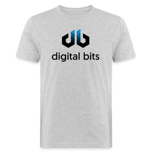 digitalbits Logo mit Schriftzug - Männer Bio-T-Shirt