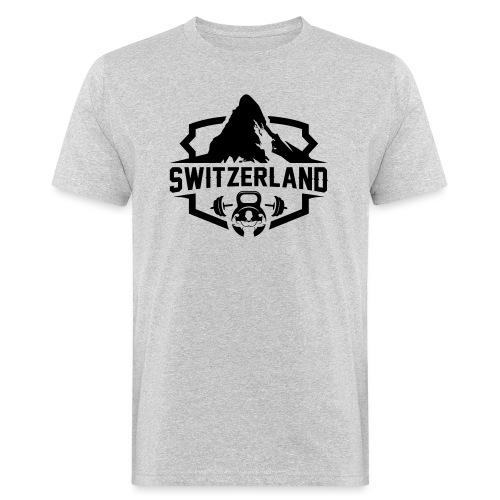 Swiss Mountain black - Männer Bio-T-Shirt
