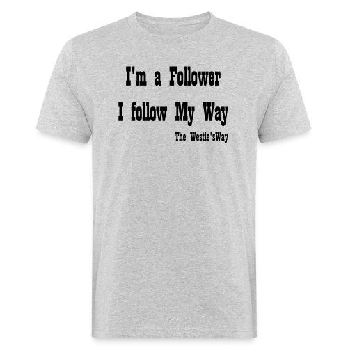 I follow My Way Black - Ekologiczna koszulka męska