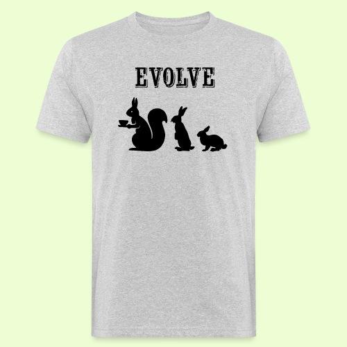EvolveBunny - Mannen Bio-T-shirt