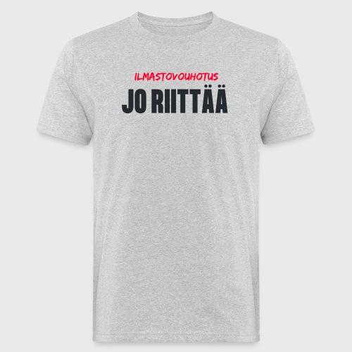 JO RIITTÄÄ - Miesten luonnonmukainen t-paita