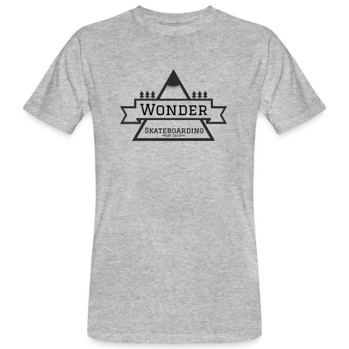 Wonder hoodie no hat - Mountain logo - Organic mænd