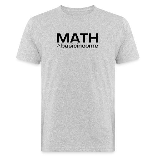 math-black - Mannen Bio-T-shirt