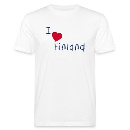 I Love Finland - Miesten luonnonmukainen t-paita