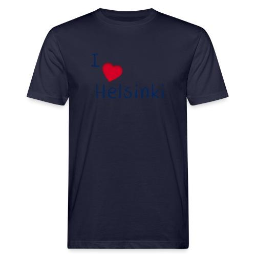 I Love Helsinki - Miesten luonnonmukainen t-paita