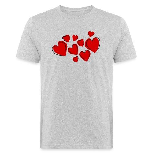 hearts herzen - Männer Bio-T-Shirt