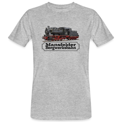 mansfelder bergwerksbahn dampflok 1 - Männer Bio-T-Shirt