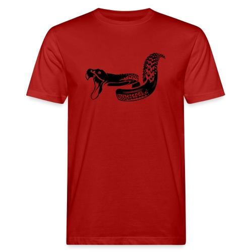 Singletrail.at - dein Reifen wird zur Schlange! - Männer Bio-T-Shirt