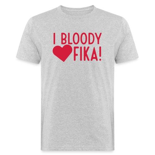 I bloody love fika - customizable colours - Miesten luonnonmukainen t-paita