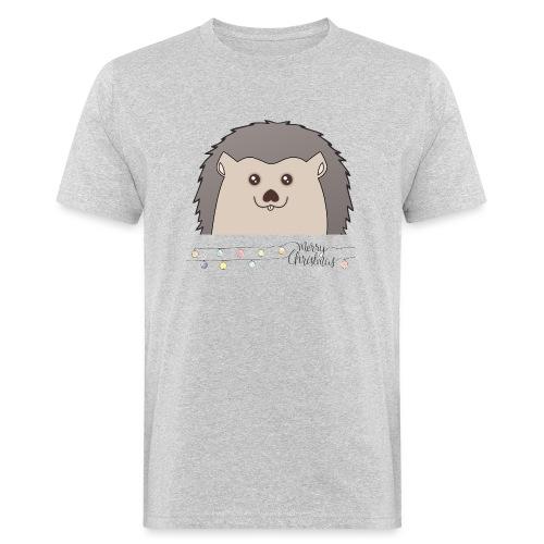 Hed wünscht Merry Christmas - Männer Bio-T-Shirt