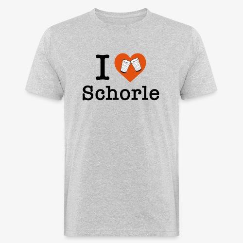 I love Schorle – Dubbeglas - Männer Bio-T-Shirt