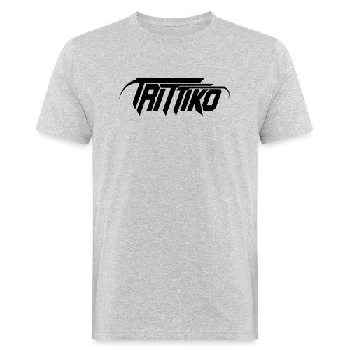 Trittiko Logo Schwarz - Männer Bio-T-Shirt