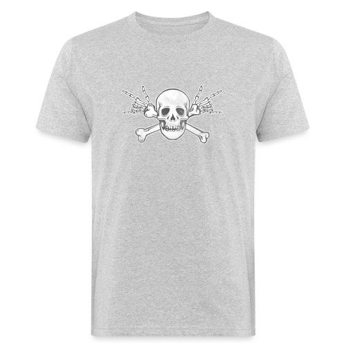 Skull with ILY Vintage - Männer Bio-T-Shirt