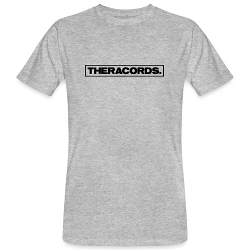 Theracords_logo_black_TP - Mannen Bio-T-shirt