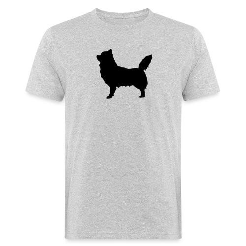 Chihuahua pitkakarva musta - Miesten luonnonmukainen t-paita
