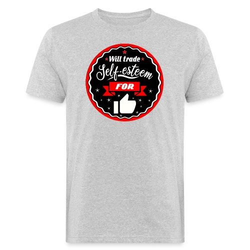 Swap self-esteem for likes (inches) - Men's Organic T-Shirt