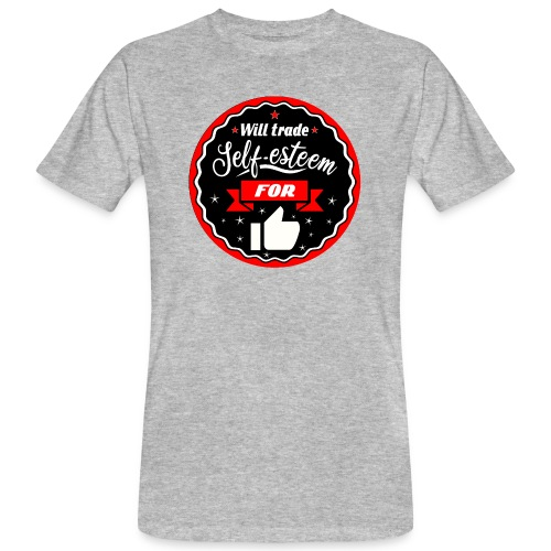 Trade self-esteem for likes (inches) - Men's Organic T-Shirt