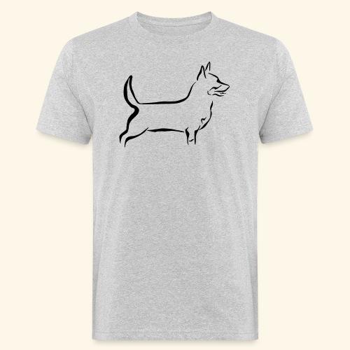 Lancashire Heeler - Miesten luonnonmukainen t-paita