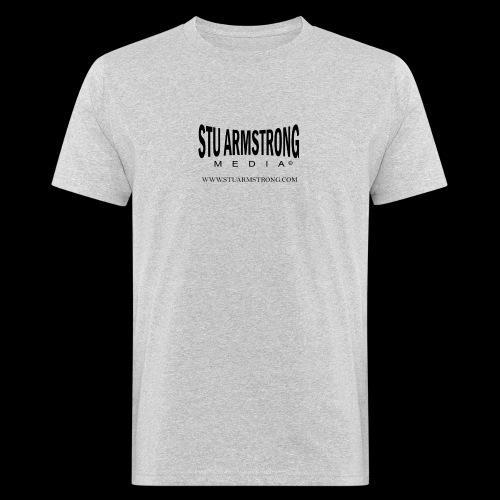 Stu Armstrong Media Black Logo - Men's Organic T-Shirt