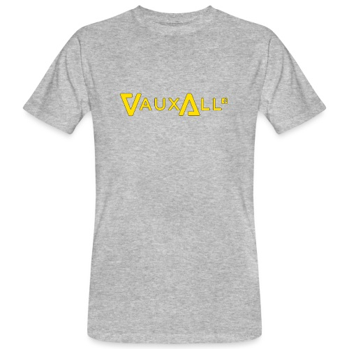 VauxAll Logo | Yellow | Original - Men's Organic T-Shirt