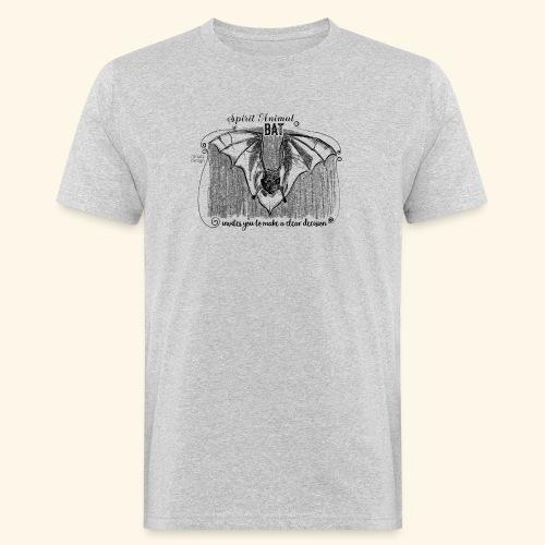 Spirit Animal Fledermaus schwarz - Männer Bio-T-Shirt